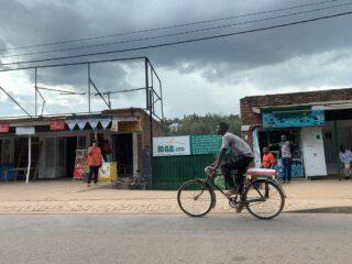 Street scene in Kigali Rwanda