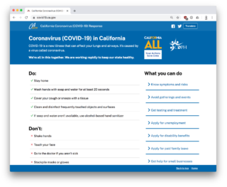 ca.gov coronavirus website screenshot
