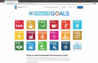 Screenshot of the United Nations' Sustainable Development Goals website
